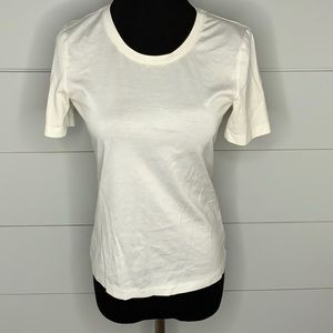 Brooks Brothers cotton crew neck white tee shirt